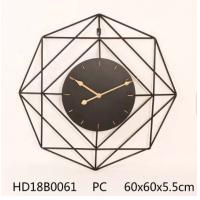China Decoration Black Metal Large Wall Clockunique design large rustic wooden/mdf antique wall clock for farmhouse decoration wholesale
