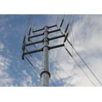 China 18M Power Transmission Line Steel Utility Pole With Steel Angle Cross Arm , ISO Standard wholesale