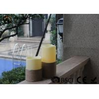 China White Led Pillar Candles / Electric Pillar Candles For Indoor LP-001 on sale