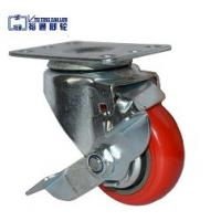 China Factory price shock sbsorber castor wheel shopping cart esd pu caster with brake wholesale