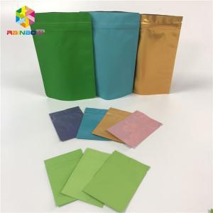 China Food Grade Foil Pouch Packaging Flat Zip Lock Heat Seal Aluminum Foil Bags Reusable wholesale