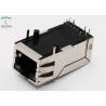 China Long Body 32.5mm 10P8C Integrated Magnetics RJ45 With Transformer 1000M Base - T Lan Jack  R/A THT LED wholesale