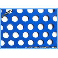 China Round Hole Perforated Metal Mesh , PVC Coated Perforated Aluminum Sheet Metal on sale