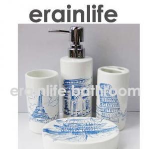China ceramic bathroom accessories set wholesale