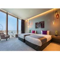 Buy cheap Solid Wood Frame Luxury Hotel Bedroom Furniture With Veneer / Apartment from wholesalers