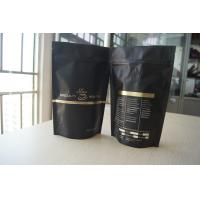 China Matt Black Tea Bags Packaging Stand Up with Degassing Valve wholesale