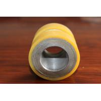 China Yellow High Density Polyurethane Wheel Heavy Duty Coating Rollers Wheels Replacement wholesale
