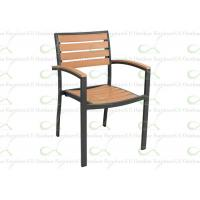 China Outdoor Dining Chair with Arm Polywood Aluminum Frame Ideal for Restaurant wholesale
