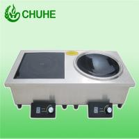 China Chuhe popular home appliance range double induction cooker with 5kw wholesale