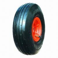 China 10-inch x 3.50-4 Pneumatic Wheel with Steel Rim on sale
