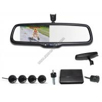 China 4.3 inch Rear view mirror Visual parking sensor CRS9437 with Reversing Camera and Sensors wholesale
