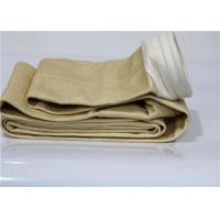 China Nomex Industrial Filter Bags , High Temperature Filter Bags Needle Punched Cylindrical wholesale