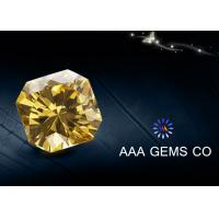 China 7mm Special Fancy Moissanite In Light Yellow For Nacklace , Rings wholesale