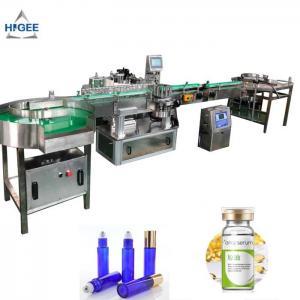 China Cosmetics PLC Automatic Sticker Labeling Machine For Alcohol Whisky Bottle Wrap wholesale