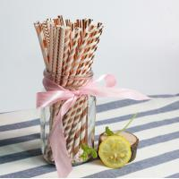 China Cheap birthday party color paper drinking straw for Export trade wholesale