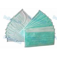 China BFE99% Non Woven Disposable Face Mask green Color with inner spot earloop wholesale