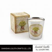 China Beautiful Smelling Home Scents Candles , Aromatherapy Soy Candles Amber Fragrance wholesale