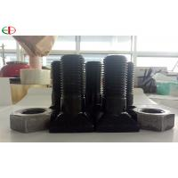 China EB567 High Strength Chrome Nuts And Bolts For Mine Mill Liners In Black Color on sale