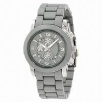 China Fashionable Sports Watch with Metal Case and Plastic Strap, Japan Quartz Movement, New Style Arrive wholesale