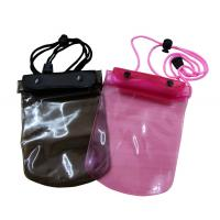 China 50C Transparent Waterproof cell phone bag adjust rope for swimming wholesale