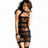 China Sexy Clubwear in Black, Made of Acrylic and Mesh Stretchable, One Size Fits All wholesale