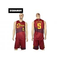 China Hotsale Sublimated Custom Quick Dry Basketball Jersey Wear For Sale wholesale