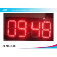 China Electronic Outdoor Large Led Digital Wall Clock Timer , Waterproof IP67 wholesale