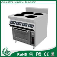 China CH-3.5BZ4 chuhe brand commercial induction range with oven wholesale