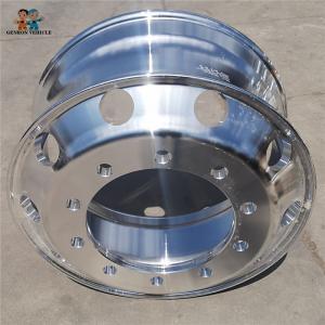 China Aluminum Alloy 12R22.5 22.5 Rim Truck Trailer Spare Parts on sale