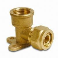 China Brass Elbow Seat Pex-Al-Pex Fitting with 1/2, 3/4 and 1-inch Thread Dimensions wholesale