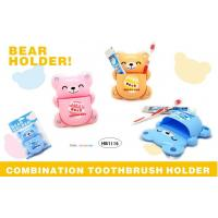 China TOOTHBRUSH & TOOTHPASTE HOLDER - BEAR DESIGN - 3 ASSORTED COLOR wholesale