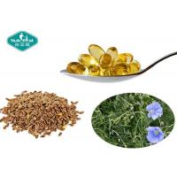 China Flaxseed Oil Essential Omega 3 1000mg Softgels Supports Cardiovascular System wholesale
