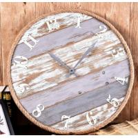 China Promotional Custom round colorful modern antique vintage metal home decorative quartz wall mounted clock for living room wholesale