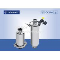China Food Processing SS304 Inline Sanitary Filter With Sample Valve / Discharge Valve wholesale