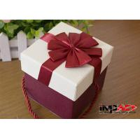 China Luxury Rectangle Cardboard Gift Boxes With Handles , Decorative Christmas Gift Boxes on sale