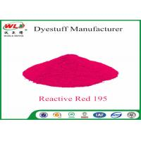 China Pure Red Clothes Dye C I Red 195 Reactive Red Wbe Powder Dye For Clothes wholesale