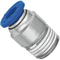 Brass Nickel Planting Pneumatic NPT Threaded Fittings Push In Male Straight Run Body Manufactures