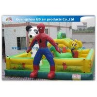 China Spider Man Inflatable Bouncy Castle Cartoon Inflatable Bouncer Trampoline Castle on sale