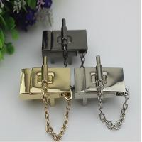 China High end zinc alloy 3 color metal hardware accessories purse locks with nickel free wholesale