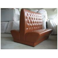 China Durable Wooden Restaurant Booth Furniture With Brown Button - Tufted Back wholesale