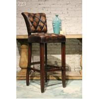 China antique British style leather bar chair furniture,#723 wholesale