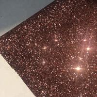 China PU Gold Glitter Wallpaper For Walls 0.9±0.15mm Thickness Non Woven Backing wholesale