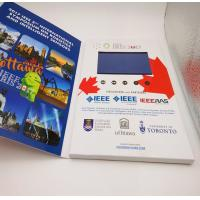 China Rechargeable Flip Book Video brochure / booklet , lcd invitation card with usb wholesale