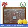 China 100 % PE Ziplock Fruit Packaging Bags With Holes For Lemon wholesale
