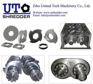 China double shaft shredder blade, single shaft shredder blade, crusher knife, OEM wholesale