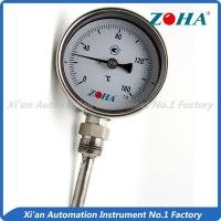 China Dial Type Metal Stem Thermometer / Small Bimetallic Temperature Gauge wholesale