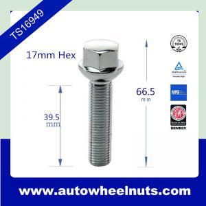China Ball Seat BMW / VK Wheel Lug Bolts M12 * 1.5  66.5mm , 39.5mm Thread Length wholesale