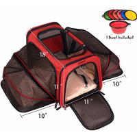 China Two Side Expandable Pet Carrier , Extra Spacious Soft Air Travel Pet Carrier wholesale
