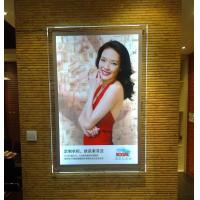 China Illuminated Crystal Led Poster Light Box , Transparent LED Backlit Movie Poster Frame on sale