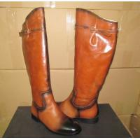 China Italy OEM ladies Leather boots- girl's ASOS style Fall & winter knee length Riding boots wholesale